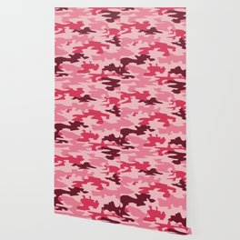 Camouflage Print Pattern - Pinks & Purples Wallpaper