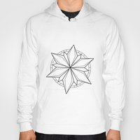 compass Hoodies featuring Compass by Cecilie