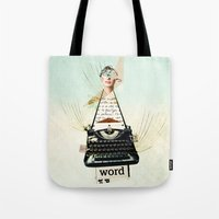 word Tote Bags featuring Word by zando & jot