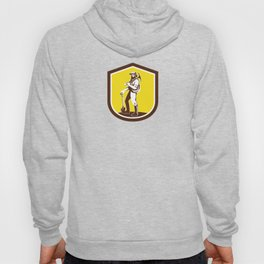 Coal Miner Carry Pick Axe Shoulder Retro Hoody