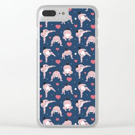 be my Valentine, sumo edition Clear iPhone Case
