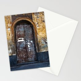 Old Sicilian door of Catania Stationery Cards