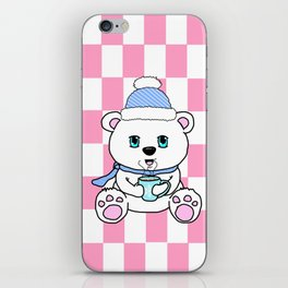 Polar Bear Drinking Hot Chocolate iPhone Skin