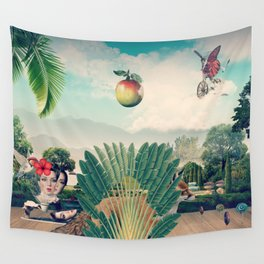 The Hiding Fox Wall Tapestry