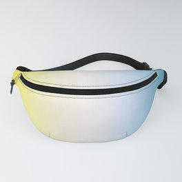 Blue White Yellow Gradient Fanny Pack