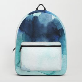 Wonderful blues Abstract watercolor Backpack