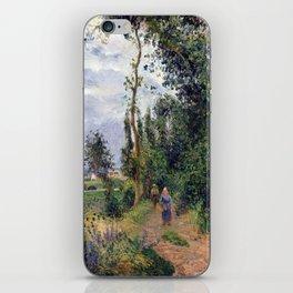 Camille Pissarro Côte des Grouettes, near Pontoise iPhone Skin