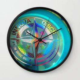 Disc Golf Boss Frisbee Blue Crystal Rainbow First Run Proto Wall Clock