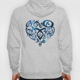 Shadowhunters rune - rune heart (blue galaxy)   Mundane   Parabatai   Alec, Izzy, Jace, Clary, Magnu Hoody