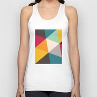 triangles Tank Tops featuring Triangles by Gary Andrew Clarke