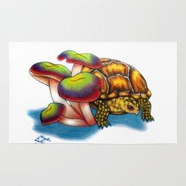 Box Turtle - Multi Color Mushrooms Rug