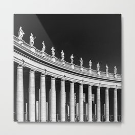 Italy Photography - Statues In St.Peter's Square Metal Print
