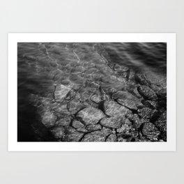 Under Water (Black and White) Art Print