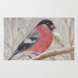 Bullfinch and Gnome-girl - Christmas Rug