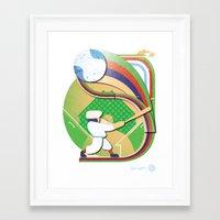baseball Framed Art Prints featuring Baseball by Patrick Welham