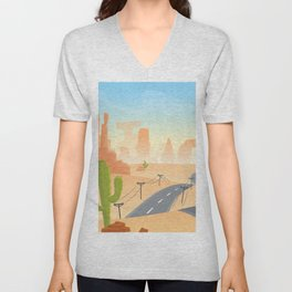 Down Those Dirty and Dusty Trails Unisex V-Neck