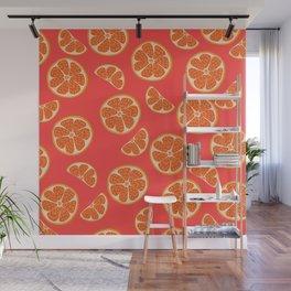 Orange slices Wall Mural