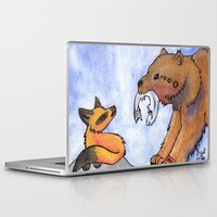 gift card Laptop & iPad Skins featuring Gift by Sparki Wolf