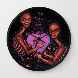 The Little Monster on Fire Wall Clock