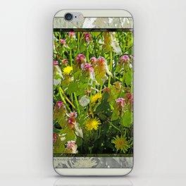 MY WEEDY SPRINGTIME PATH iPhone Skin