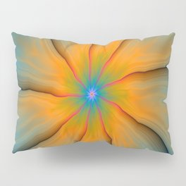 Cracked in Blue Orange and Green Pillow Sham