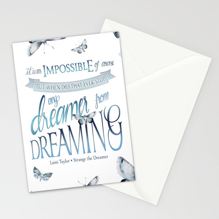 IT WAS IMPOSSIBLE OF COURSE Stationery Cards