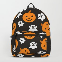 Happy halloween pumkins and ghosts pattern Backpack