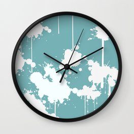 Abstract Paint Splashes Wall Clock