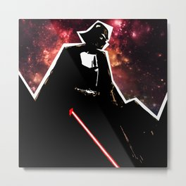 Darth, Dark, Black Metal Print