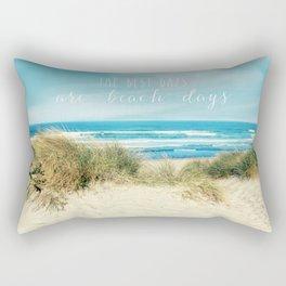 the best days are beach days Rectangular Pillow