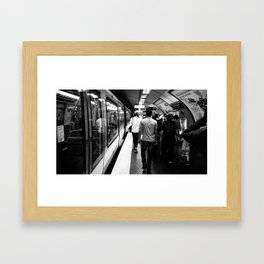 Subway - Charles de Gaulle Framed Art Print