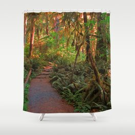 Walking with dinosaurs Shower Curtain