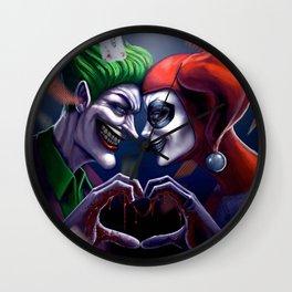 Harley quiin love joker Wall Clock