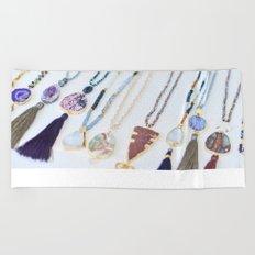 Quest Stones Boho Jewelry Beach Towel