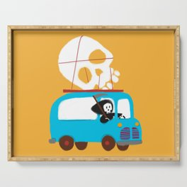 Death on wheels Serving Tray