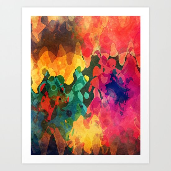 Color y psicodelia Art Print