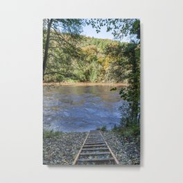 The Wye In Flood Metal Print