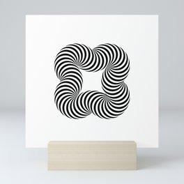 Optical illusive infinity Mini Art Print
