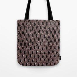 Watercolour Blackwork: 'Lozenge' Burnt Rose 1 (dark) Tote Bag