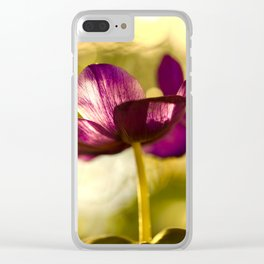 Glowing Purple Flower #decor #buyart #society6 Clear iPhone Case