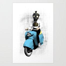 Vespa Man Art Print