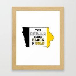 This Iowan Bleed Black & Gold Framed Art Print