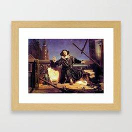 Matejko-Astronomer Copernicus-Conversation with God Framed Art Print