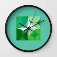 square Wall Clocks featuring Square  by LoRo  Art & Pictures