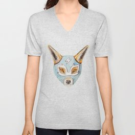 Andrew, the Fox Wrestler Unisex V-Neck