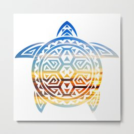 Trippy Turtle Metal Print