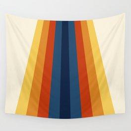 Bright 70's Retro Stripes Wall Tapestry