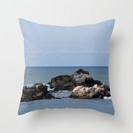 The Whaler's Cove (Point Lobos) Throw Pillow