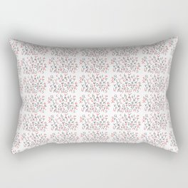 Alphabet 5 -letter,child,language,Abecedarium,abc,abcdefg, symbols,script,write,writing Rectangular Pillow