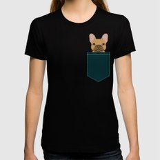Willow - French Bulldog phone case art design for dog lovers and dog people Womens Fitted Tee MEDIUM Black